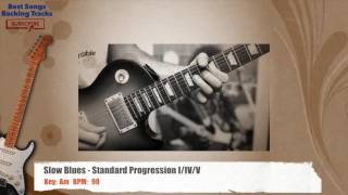 Slow Blues in Am Guitar Backing Track