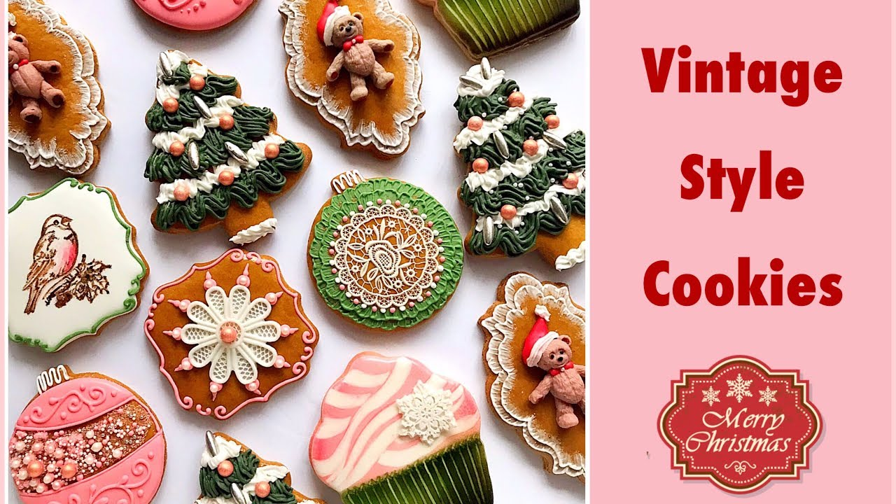 Vintage Style Christmas Gingerbread Cookies