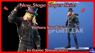 *NEW* Stage Slayer Skin! (Before You Buy) In-Game Showcase!! | | Fortnite Battle Royale