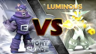 Skylanders Trap Team - Nightshade VS Luminous