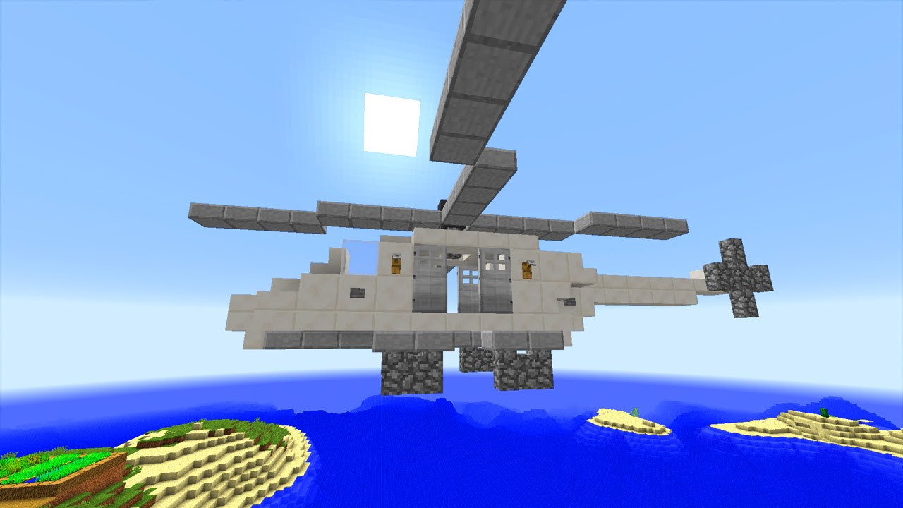 Build A Helicopter In Minecraft