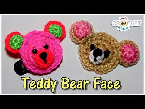 Teddy Bear Face Applique - Crochet Along Tutorial! - YouTube