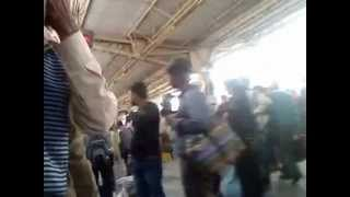 catching a train at Aligarh railway station