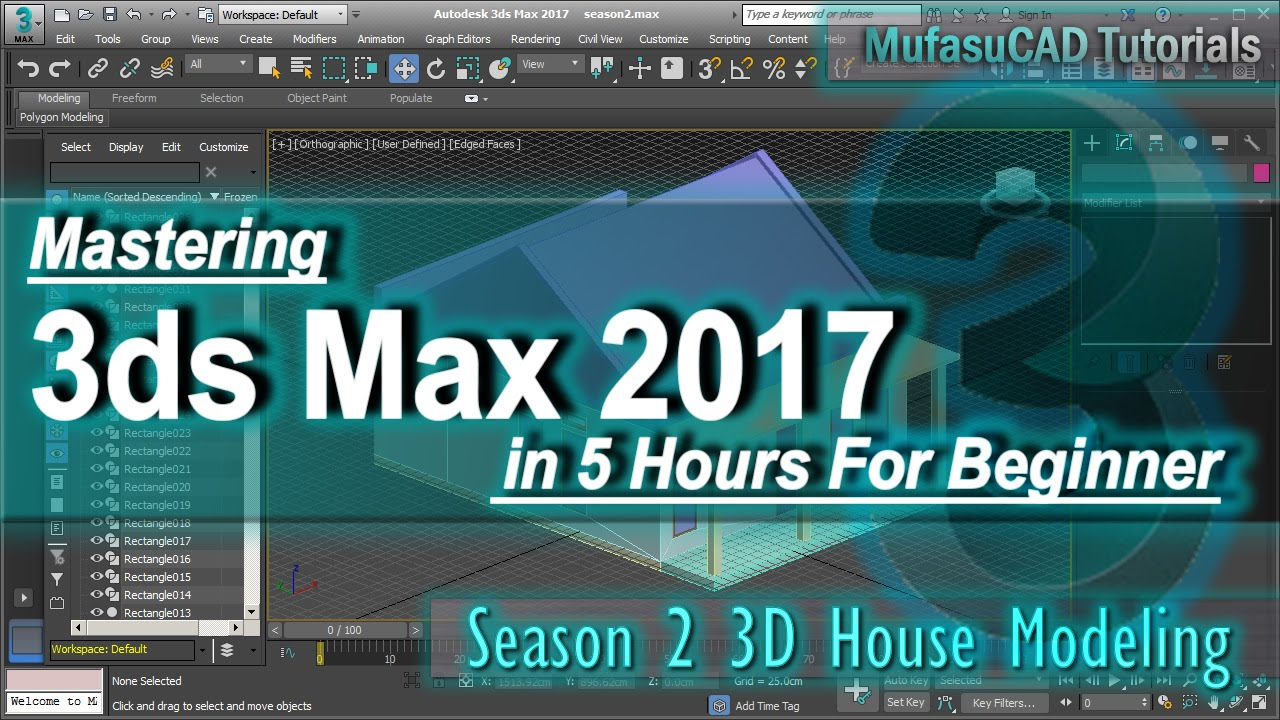 3ds max 3d house modeling tutorial basic for beginner course