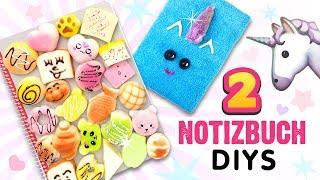 Plüsch EINHORN Notizbuch DIY ⭐ Basteln für die Schule mit Papier 💕 Squishy Anleitung Deutsch