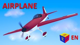 How airplanes fly for kids. Construction game: AIRPLANE educational cartoon for children