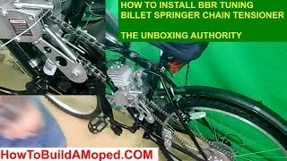 Install BBR Tuning Billet Springer Chain Tensioners How To Build a Motorized Bicycle Part 18