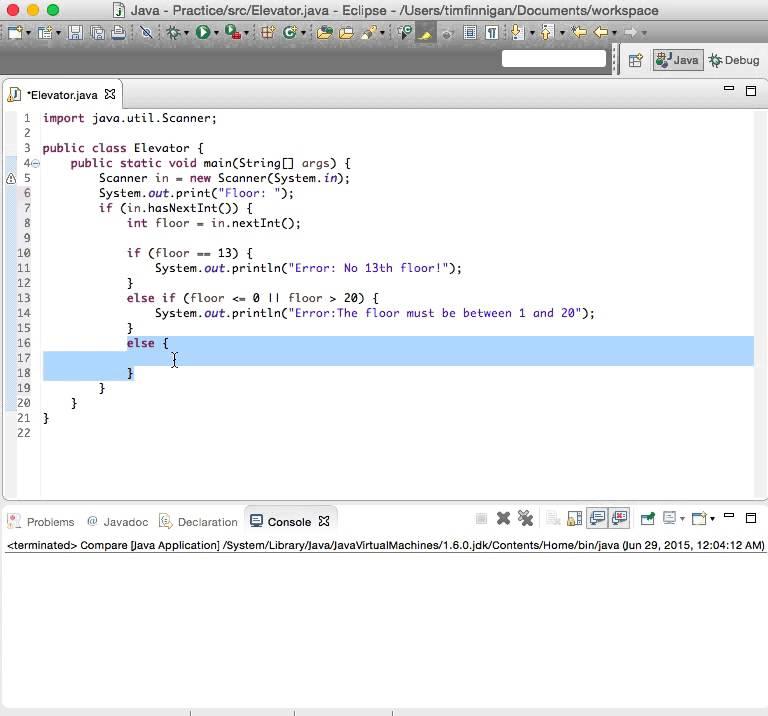 Java validating input