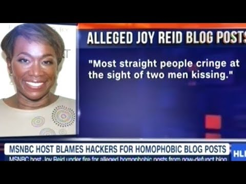 MSNBC CALLED OUT! News Anchor Joy Reid Blames Hackers For Exposing Her TRUE Homophobic Nature!