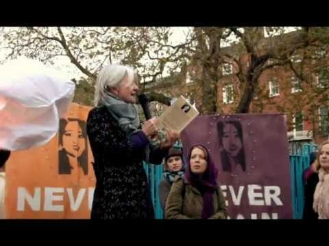 Vigil4Savita - Paula Meehan reads a poem for Savita.