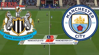 Newcastle United V Manchester City | Quarter Finals Fa Cup 28 June 2020 | Gameplay Fifa 20