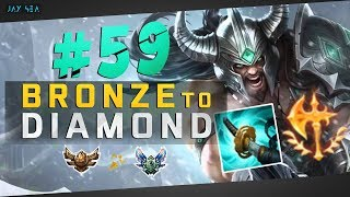 How to Fast Win at 20 mins Jungle | Patch 8.11 Tryndamere | Depths of Bronze to Diamond Episode #59