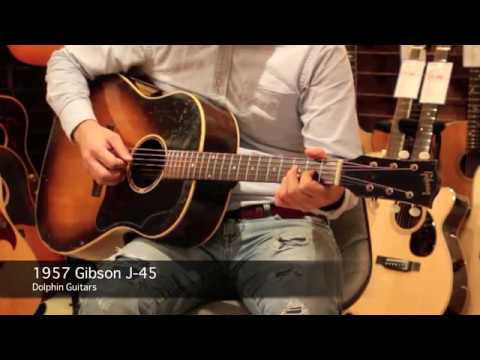 1957 GIBSON J-45  demo