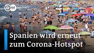 COVID-19: Spanien wird Hochinzidenzgebiet | DW Nachrichten