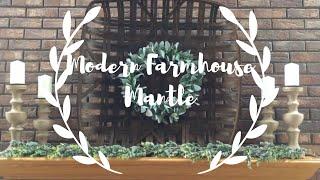 Neutral Modern Farmhouse Mantle Decor//neutral Decor//decorate With Me