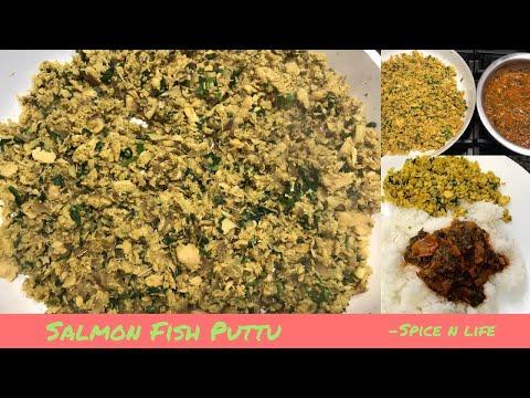 Easy Canned Salmon Fish Recipe|தமிழில் |மீன் புட்டு| Shredded Salmon Fish Recipe| Meen Puttu| Tamil