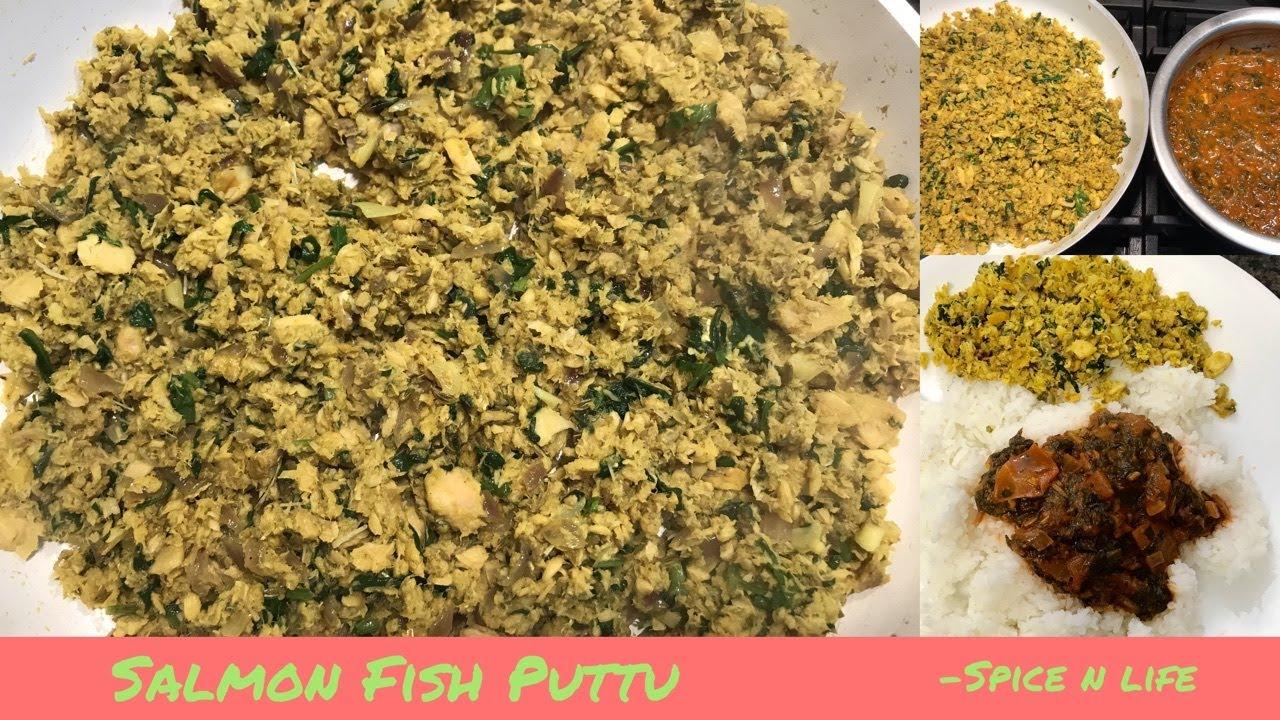 Easy Salmon fish puttu in Tamil | மீன் புட்டு | Shredded Salmon dish