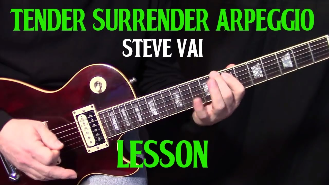 how to play tender surrender arpeggio lick by steve vai electric guitar lesson youtube. Black Bedroom Furniture Sets. Home Design Ideas