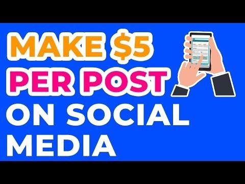 How To Make Money On Social Media | MAKE $5 PER POST?