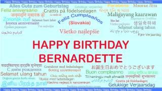 Bernardette   Languages Idiomas - Happy Birthday