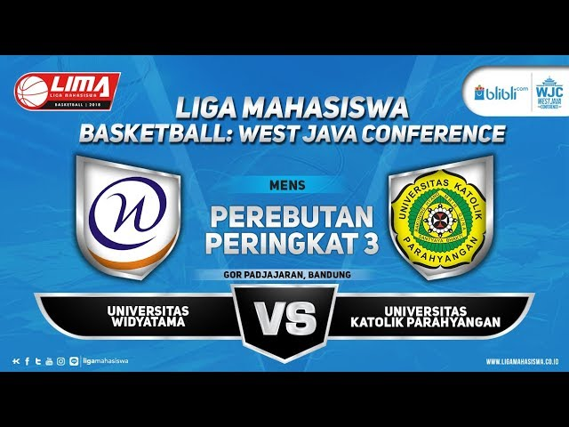 THIRD PLACE MEN'S WIDYATAMA VS UNPAR LIMA BASKETBALL: BLIBLI.COM WJC 2018