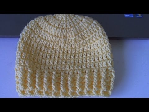 How To Crochet Ribbed Beanie
