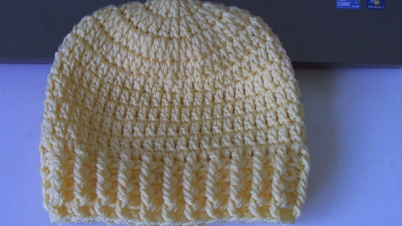 How To Crochet A Beanie : How to crochet Ribbed Beanie - Style 2 (tambiEn en Espa?ol ...