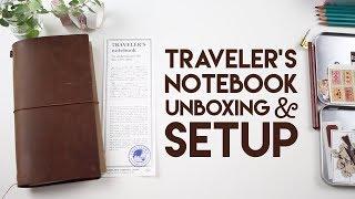 Traveler's Notebook Unboxing & Setup