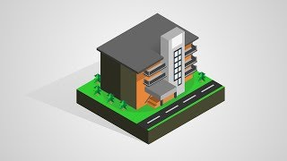 Isometric School Building - Corel Draw Tutorial