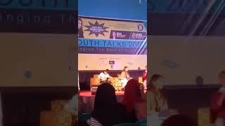 Kegiatan youth talk show 2019 begging the best of milenial juga di hadiri oleh artis mentari novel
