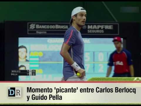 Momento 'picante' entre Carlos Berlocq  y Guido Pella