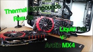 Thermal Compound Results, Arctic MX4 vs Liquid Pro, MSI GTX 970 SLI,