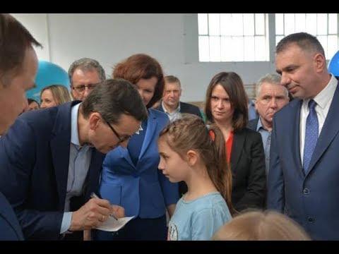 Wizyta Premiera Mateusza Morawieckiego w Skołoszowie