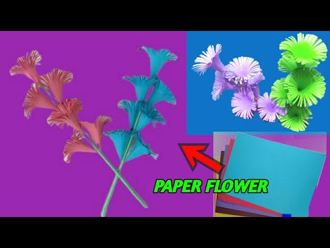 How to make paper flower | Paper craft | home decoration ideas