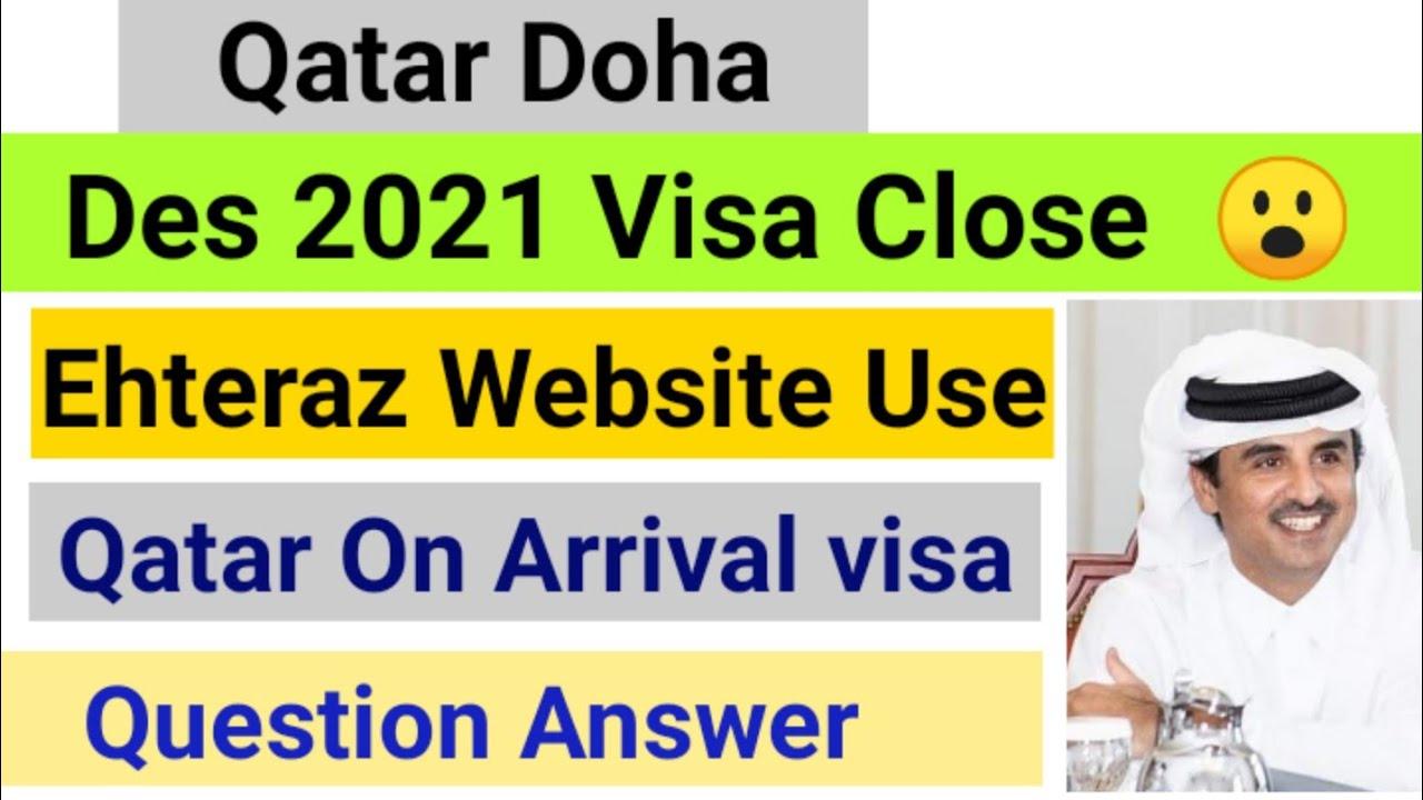 Qatar On Arrival visa information// Qatar EHTERAZ website Register information