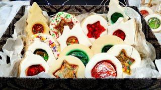 Maravilhoso Biscoito Vitral De Natal