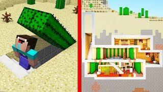 НУБ НАШЕЛ СЕКРЕТНУЮ БАЗУ из КАКТУСА В Майнкрафте! Minecraft Мультики Майнкрафт троллинг Нуб и Про