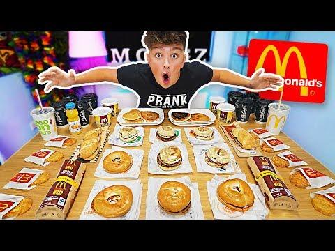 ENTIRE MCDONALDS BREAKFAST MENU CHALLENGE!! *250,000 CALORIES* Breaking McDonalds World Records