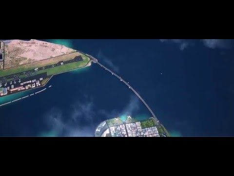 China Maldives Friendship Bridge - Visualization