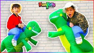 Jason Pretend Play Treasure Hunt with Dino