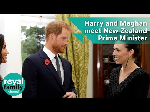 Prince Harry and Meghan meet New Zealand Prime Minister