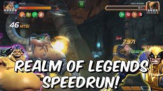 Rank 5 Mojo Realm of Legends Speedrun! - BEAST MODE DAMAGE - Marvel Contest of Champions