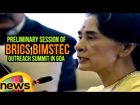 Myanmar State Counsellor Aung San Suu Kyi At Preliminary Session of BRICS BIMSTEC Outreach Summit