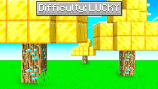 "I Unlocked ""LUCKY"" MODE In Minecraft!"