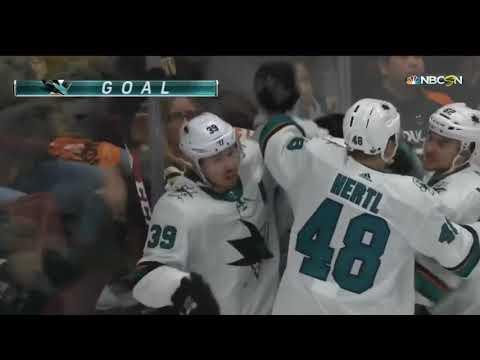 2018 Stanley Cup Playoffs First Round : San Jose v Anaheim - All Sharks Goals