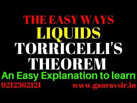 class 11 LIQUIDS TORRICELLI
