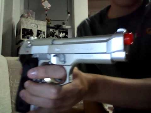 Airsoft M92F-Silver (Spring) Heavy Weight Blazing Toys