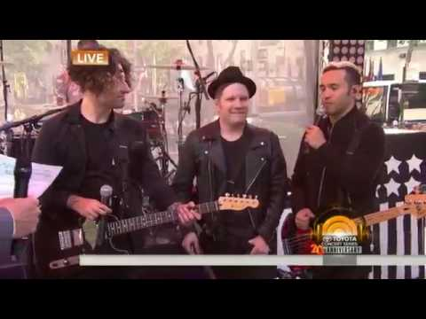 Fall Out Boy performs 'Centuries' & 'Uma Thurman' Live on Today Show
