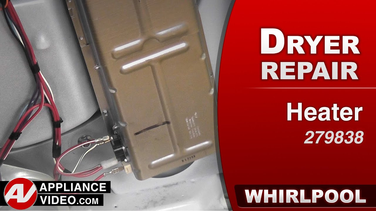how to fix a whirlpool dryer without heat