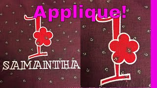 Hatch Embroidery: create a large applique number and name design!😍